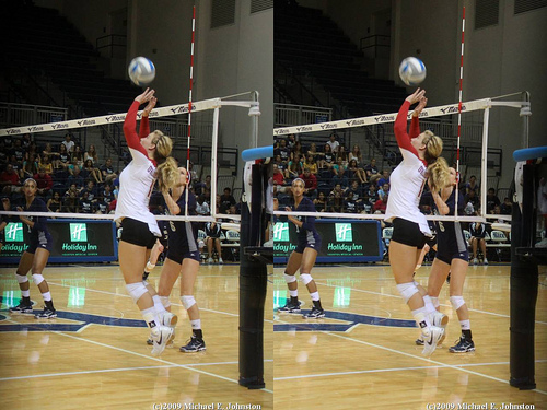 Fundamental Rules In Volleyball Defense:Oklahoma Setter In The Front Row  photo by Michael E. Johnston