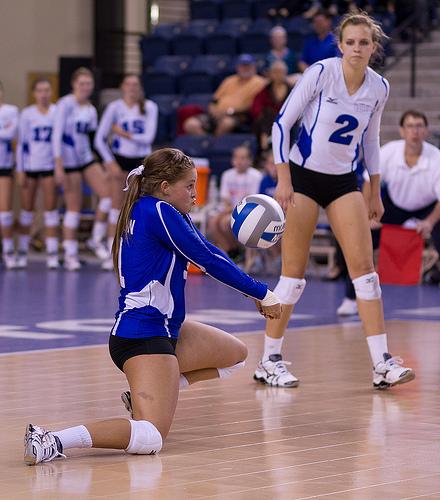 volleyball dig: Creighton Libero Digs