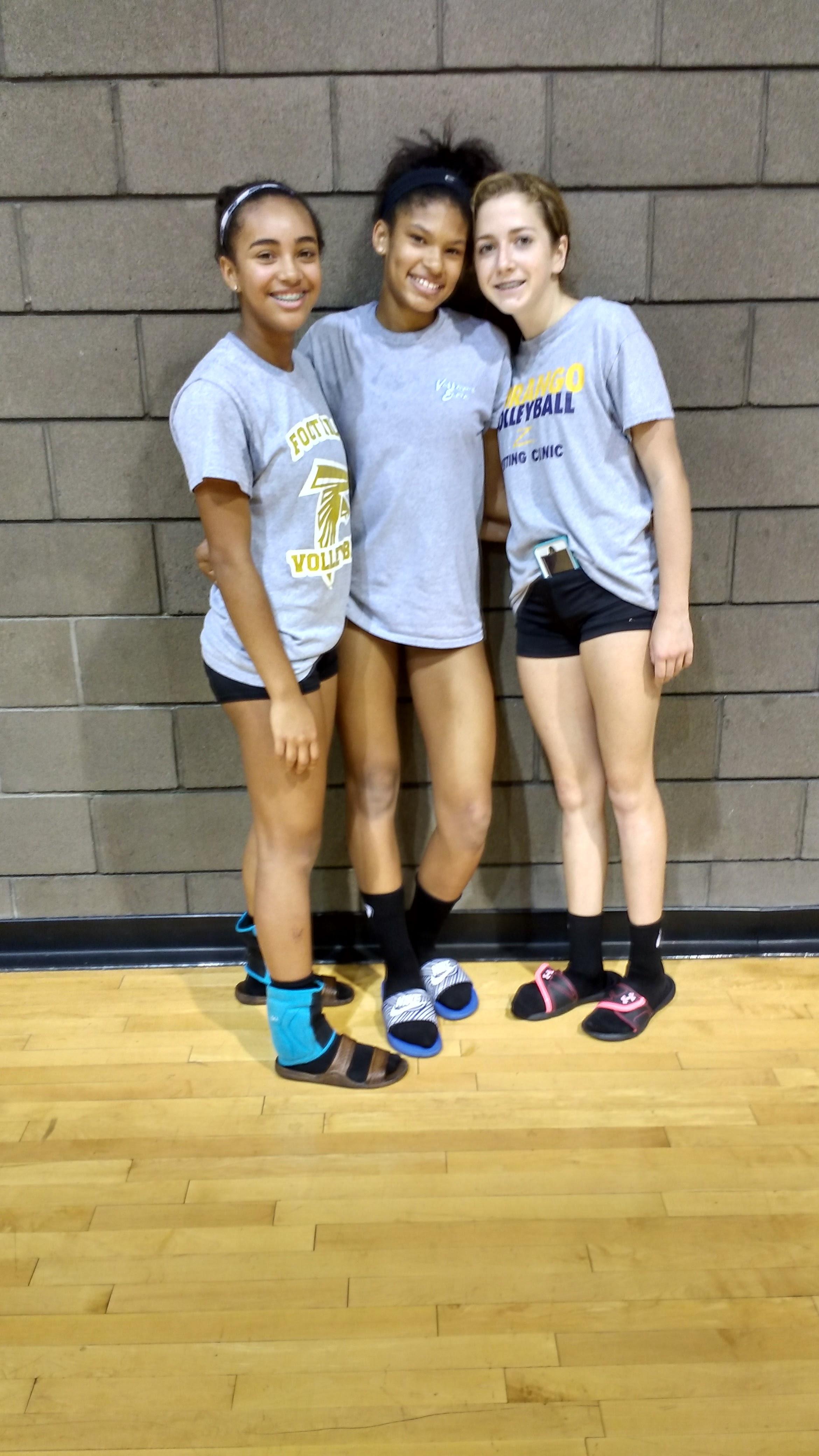 Brooklyn, Jaquelyn and Maggie make varsity as freshmen