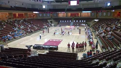 Volleyball Court Size: College of Charleston TD Arena Home Court photo by SC Petrel