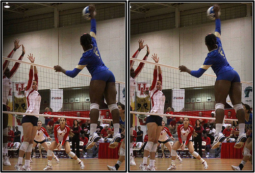 Attacking in volleyball means when a hitter is set a ball they take a 3 or 4 step spike approach before jumping in the air before swinging at a ball to propel into the opposing team's court.