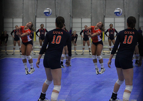 Rules of Volleyball: UTSA Libero in the back court