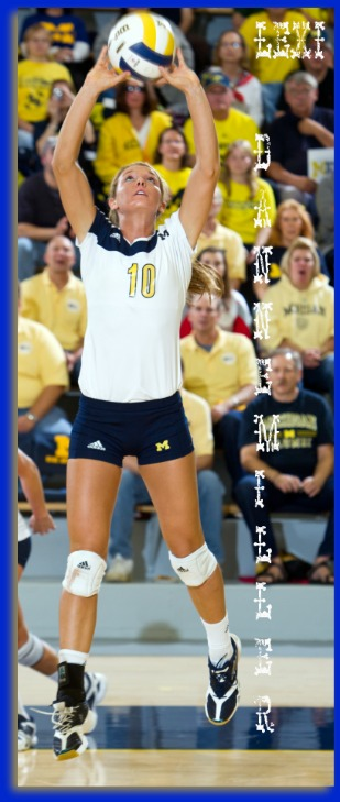 Learn how to set a volleyball: Lexi Dannemiller Michigan setter