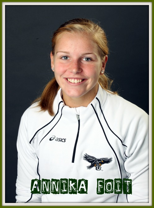 NEC Conference standout Annika Foit answers my hitter volleyball interview questions.