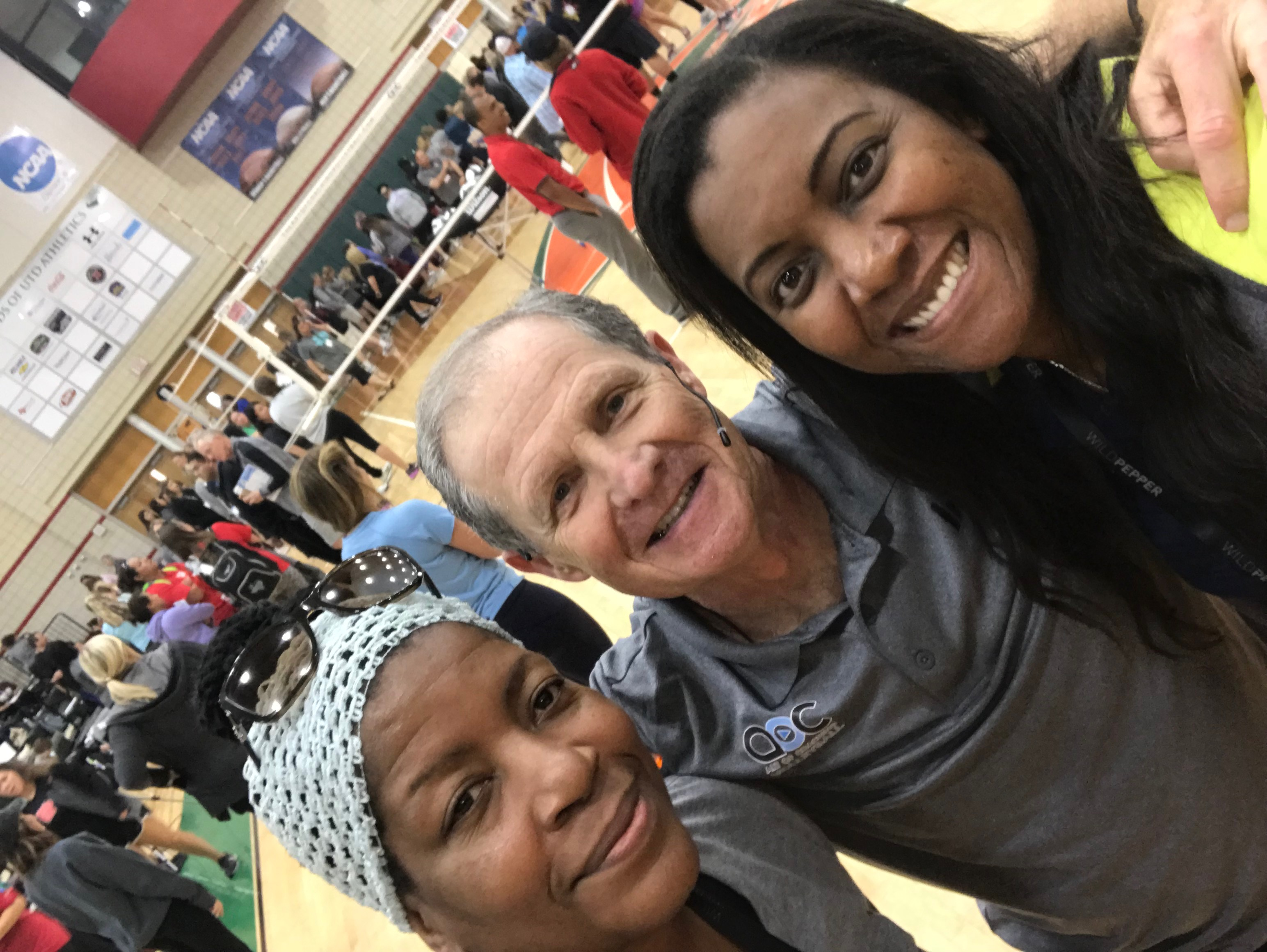 Three-time Olympic USA Volleyball coach, 5-time Olympian Danielle Scott Arruda and me at the Art of Coaching clinic in Dallas, TX