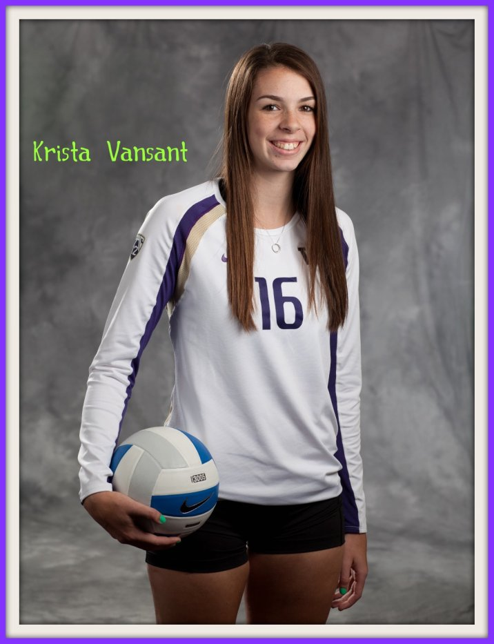 Krista Vansant was named to the Volleyball Magazine All American list in 2013 after being one of the most dominant college volleyball players at the University of Washington