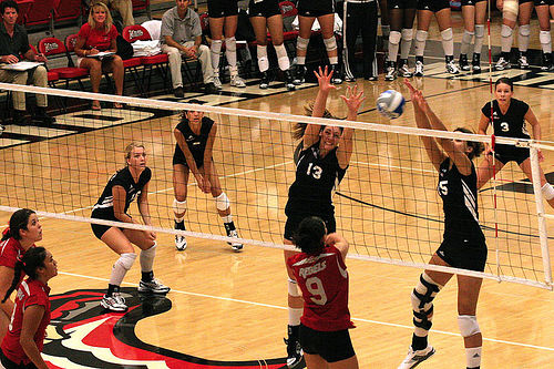 Improve your volleyball by knowing the USA volleyball block rules. Photo by Chris Daines