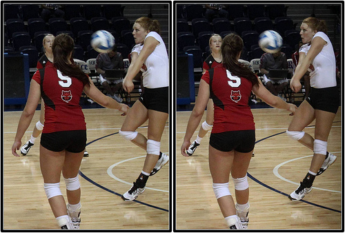 Positions on the Volleyball Court: In serve receive, depending on the offense you run, as libero, when your team is served, you'd pass from MB (Position 6) taking as much court as possible