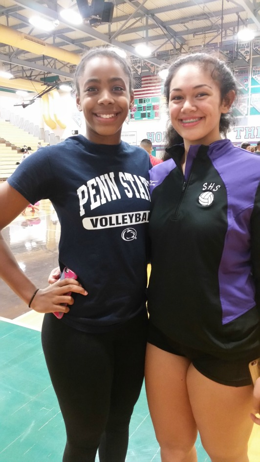 Tehani Faitau (right) made Varsity as an incoming freshman Silverado High School