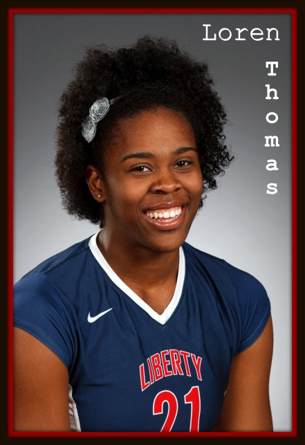 Meet Loren Thomas middle blocker volleyball hitter for Liberty University.