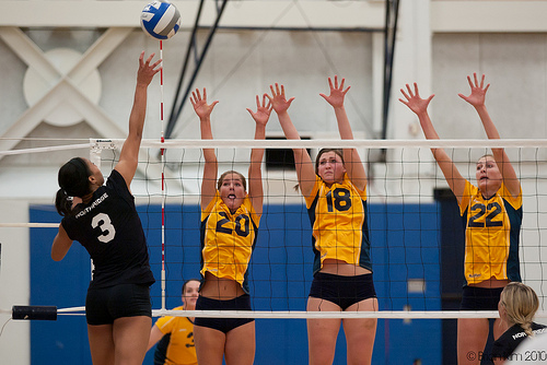 UC Irvine during a Big West Conference match