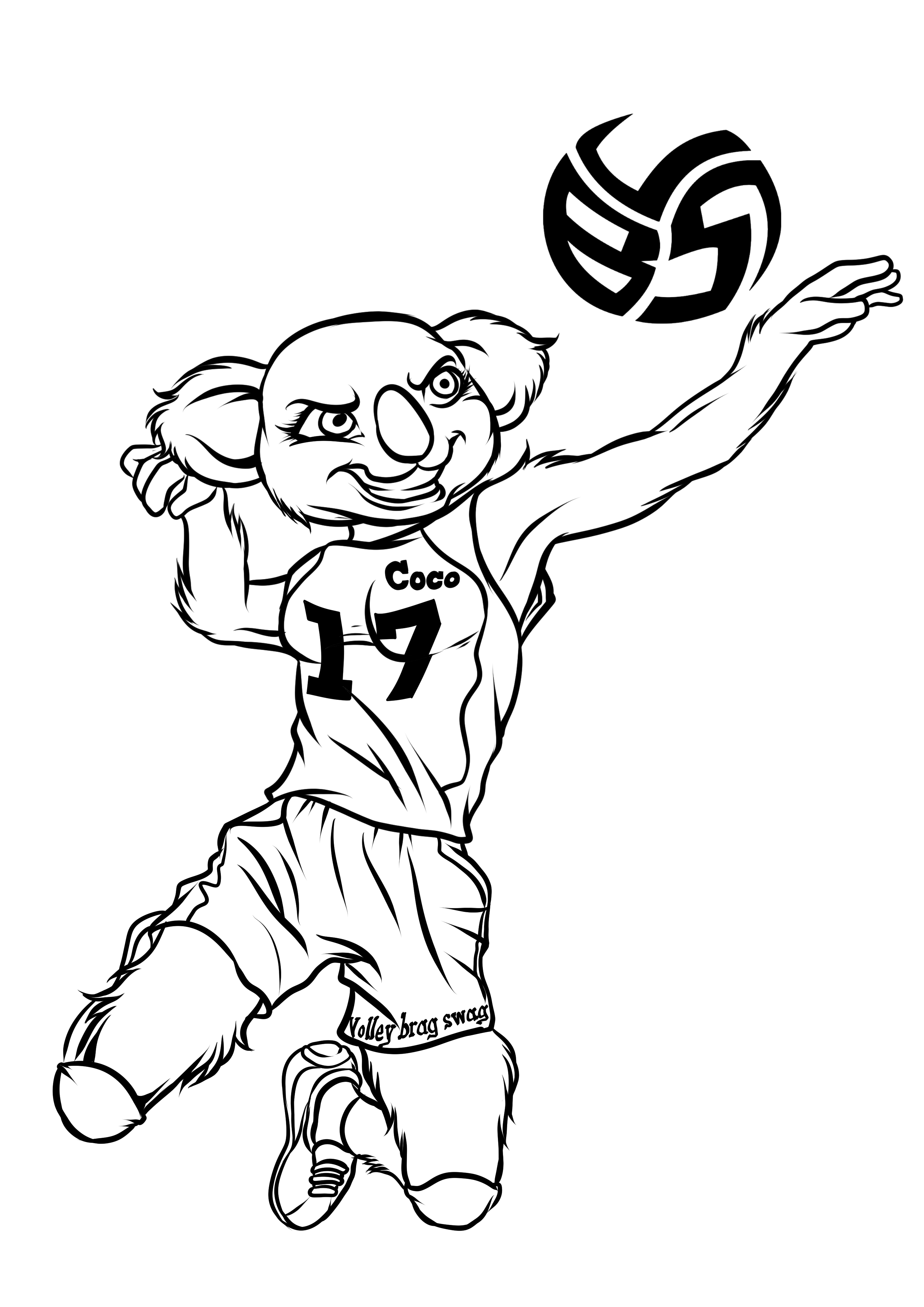 Volleybragswag Coco the Koala coloring pages