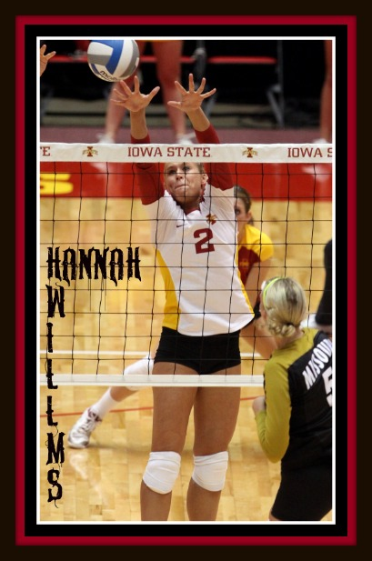 Iowa State Cyclones outside hitter Hannah Willms answered my volleyball interview questions.