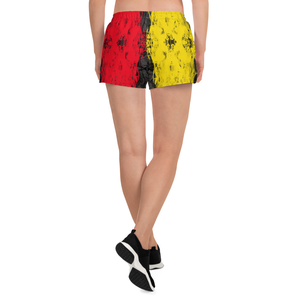 Mix and match these cute sports bra and shorts set combos with yellow and blue designs inspired by the flag of Germany