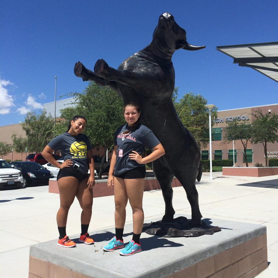 Regular Boot Camp volleyball class Alli and AJ incoming freshmen make varsity at Arbor View High School