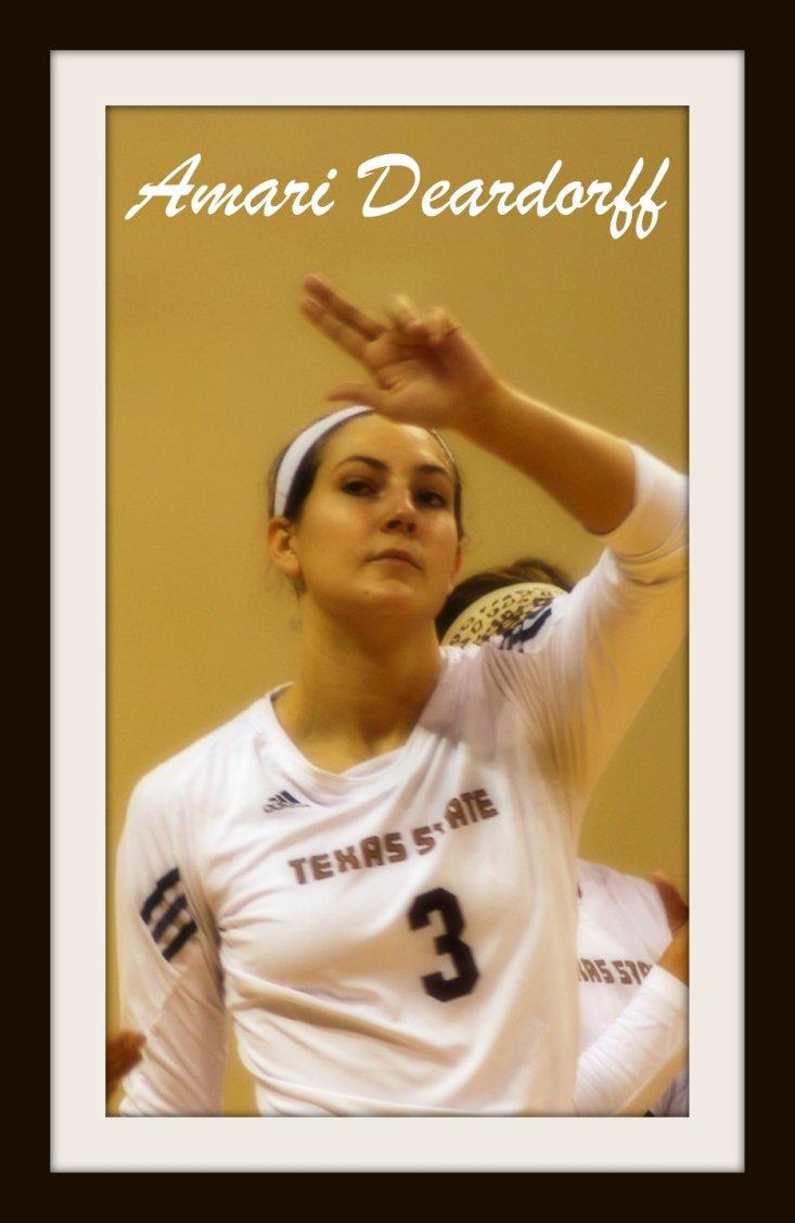 Texas State University Volleyball Player Amari Deardorff