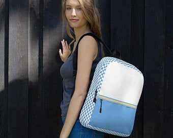 Cute back to school backpacks are in! Back to school outfits with colorful cool backpack accessories are a thing this season. Check out these popular designs on Etsy!
