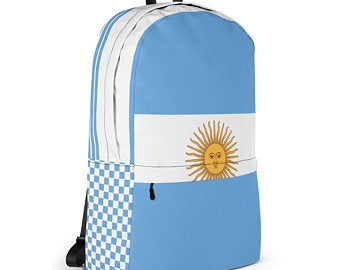 Really cute back to school backpacks inspired by the flag of Argentina Available on ETSY in my Volleybragswag shop. Get yours today!