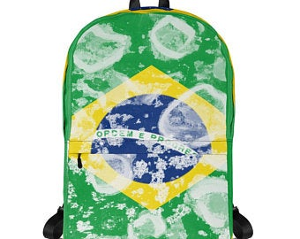 Really cute back to school backpacks inspired by the flag of Brazil. Available on ETSY in my Volleybragswag shop. Get yours today!