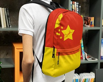 Really cute back to school backpacks inspired by the flag of China. Available on ETSY in my Volleybragswag shop. Get yours today!