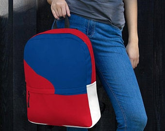 Really cute back to school backpacks inspired by the flag of Korea Available on ETSY in my Volleybragswag shop. Get yours today!