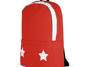 Really cute back to school backpacks inspired by the flag of Puerto Rico. Available on ETSY in my Volleybragswag shop. Get yours today!