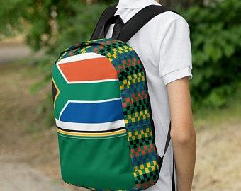 Really cute back to school backpacks inspired by the flag of South Africa. Available on ETSY in my Volleybragswag shop. Get yours today!