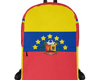Really cute back to school backpacks inspired by the flag of Venezuela. Available on ETSY in my Volleybragswag shop. Get yours today!