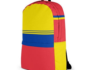 Really cute back to school backpacks inspired by the flag of Venezuela Available on ETSY in my Volleybragswag shop. Get yours today!