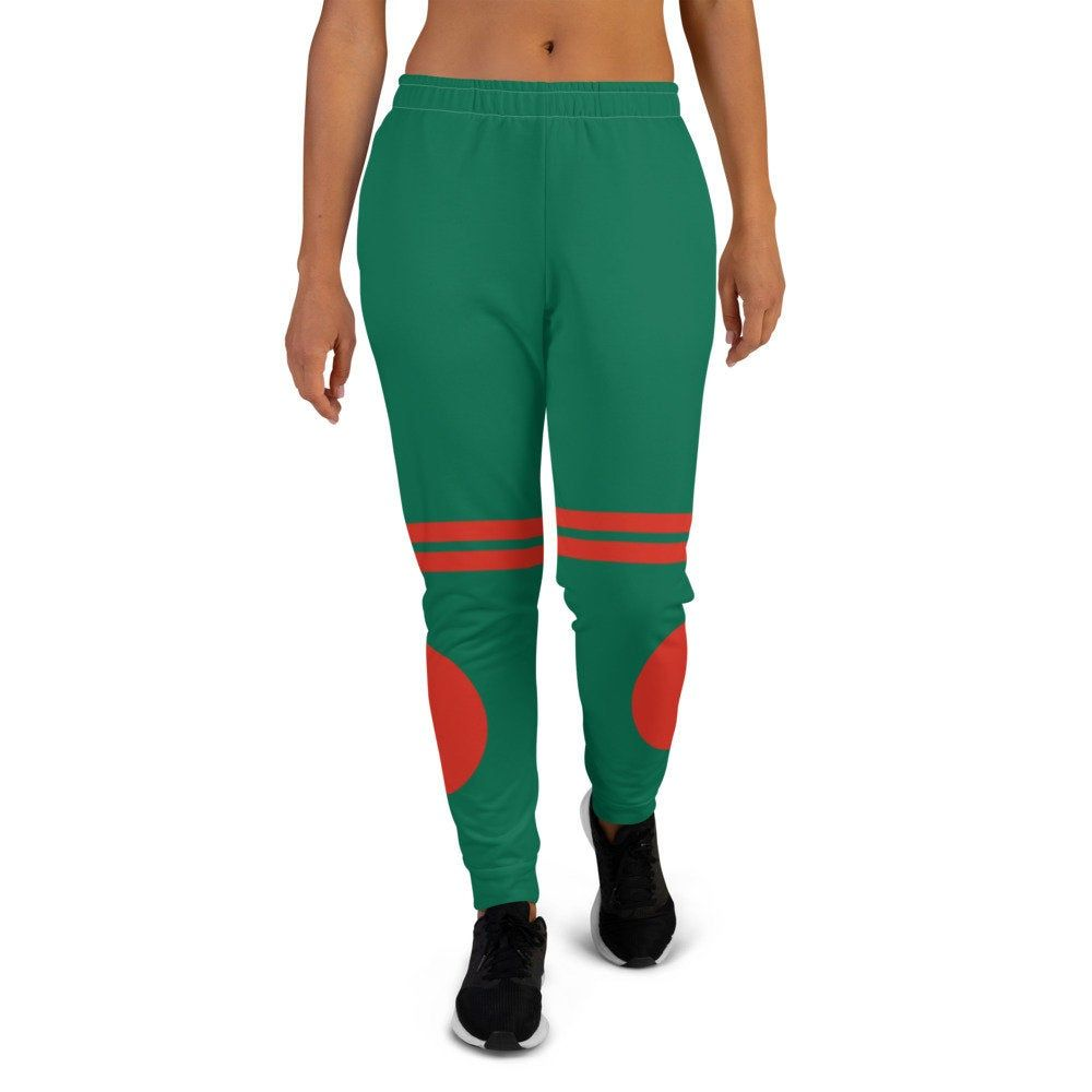 Green jogger pants inspired by the national flag of Bangladesh are included in my Volleybragswag collection and are available Spring 2021.