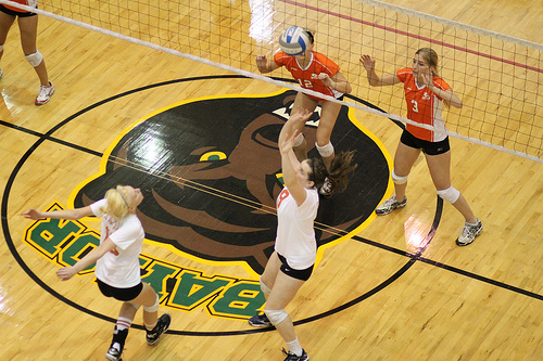 Baylor Bears Volleyball  Photo by Mike Knewtson