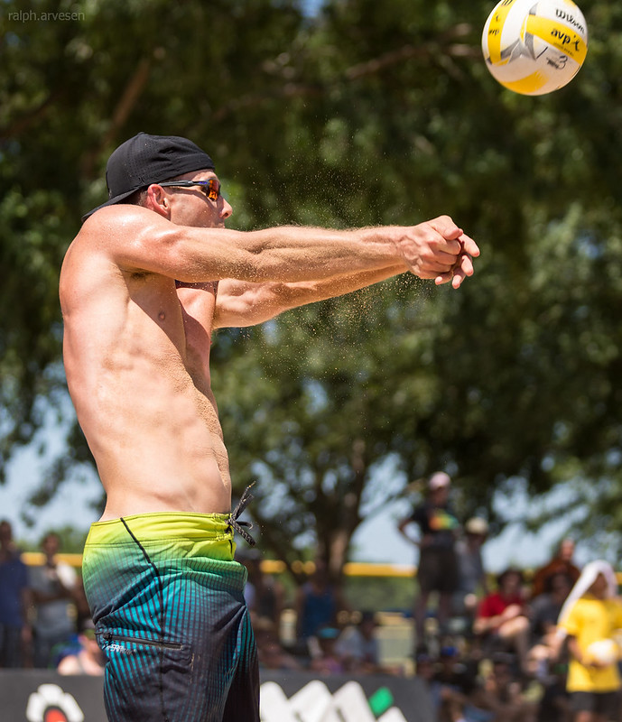 Beach Volleyball Setting: The problem with deep dishing is that you are setting yourself up to be called for holding or lifting the ball which is why pros like to bump set. (Ralph Aversen)