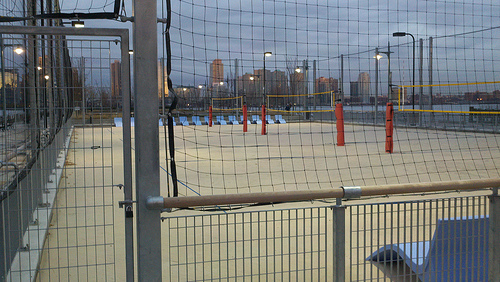 Pictures of volleyball courts on the new Hudson River Piers by D. Norton