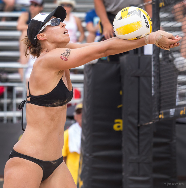 Beach Volleyball Passing Tips: The higher you pass the volleyball, the more chance you give the wind to take hold of it and move it around. (Aversen)