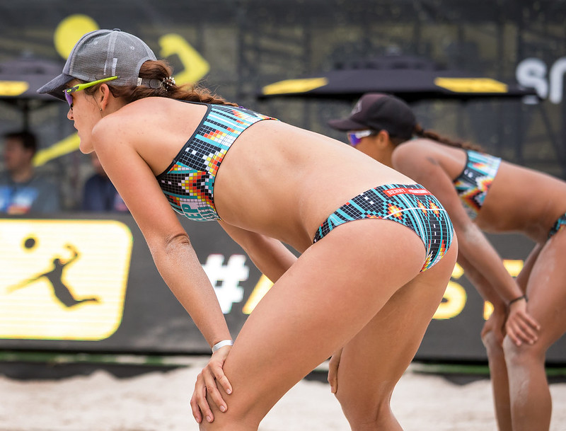 Beach Volleyball Passing Tips: In beach the way that you place your feet for the forearm pass ready position does not differ much than what you do in an indoor game. (Aversen)