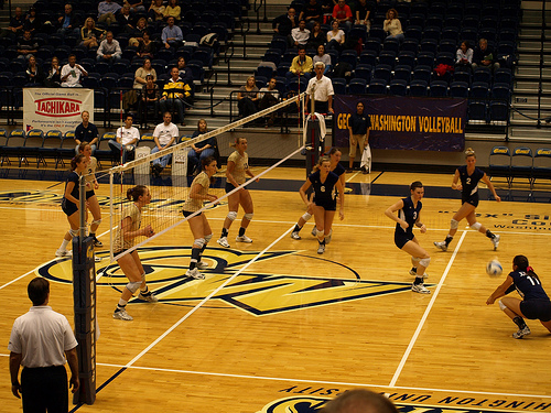 Volleyball Defense: When playing defense, the ultimate goal of the defensive team is to keep the ball off their floor. (Laurie Mayer)