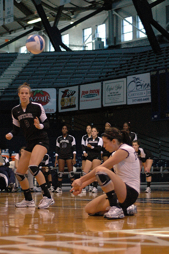 The Volleyball pass in serve reception