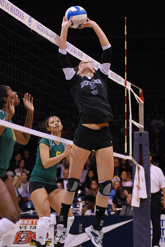 The Volleyball Players Set: The setter jump setting (R. Leslie Dalmore)