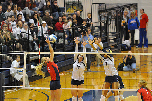 Rules of Volleyball:Penn State blockers closing the block