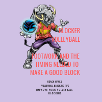 Blocker Volleyball Footwork