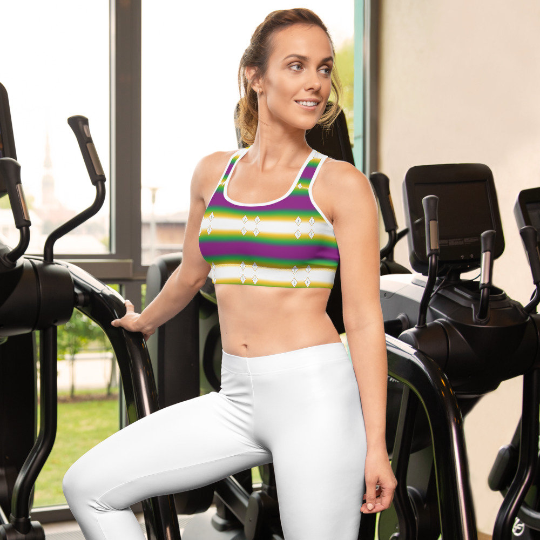 These gorgeous sports bras with colors inspired by the Brazilian flag are made from moisture-wicking material that stays dry during low and medium intensity workouts.