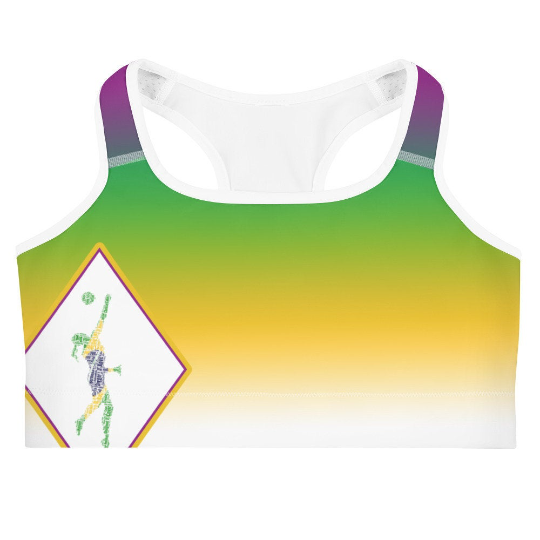 Yellow Sports Bra and Shorts Set (sold separately) inspired by the Brazilian Flag