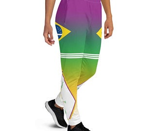 Create A Sports Bra Outfit With Brazil Flag Inspired Designs. Shop now!