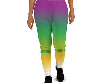 These Volleybragswag green and yellow joggers pants womens sweatpants options for players inspired by the Brazilian Flag
