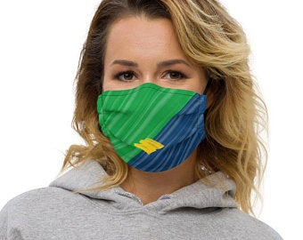 These Volleybragswag yellow and green masks inspired by the Brazilian Flag make great gift ideas for volleyball players