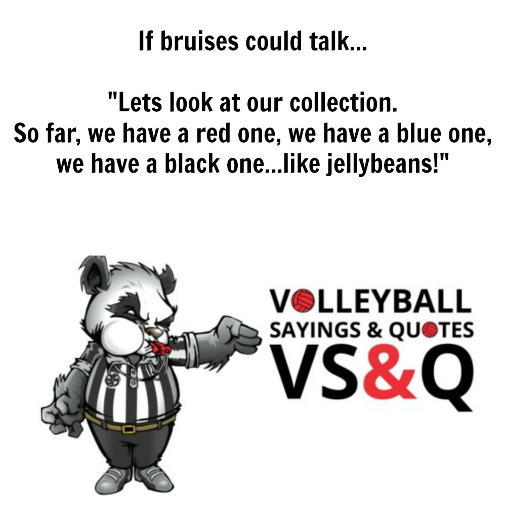 inspirational volleyball quotes: if bruises could talk