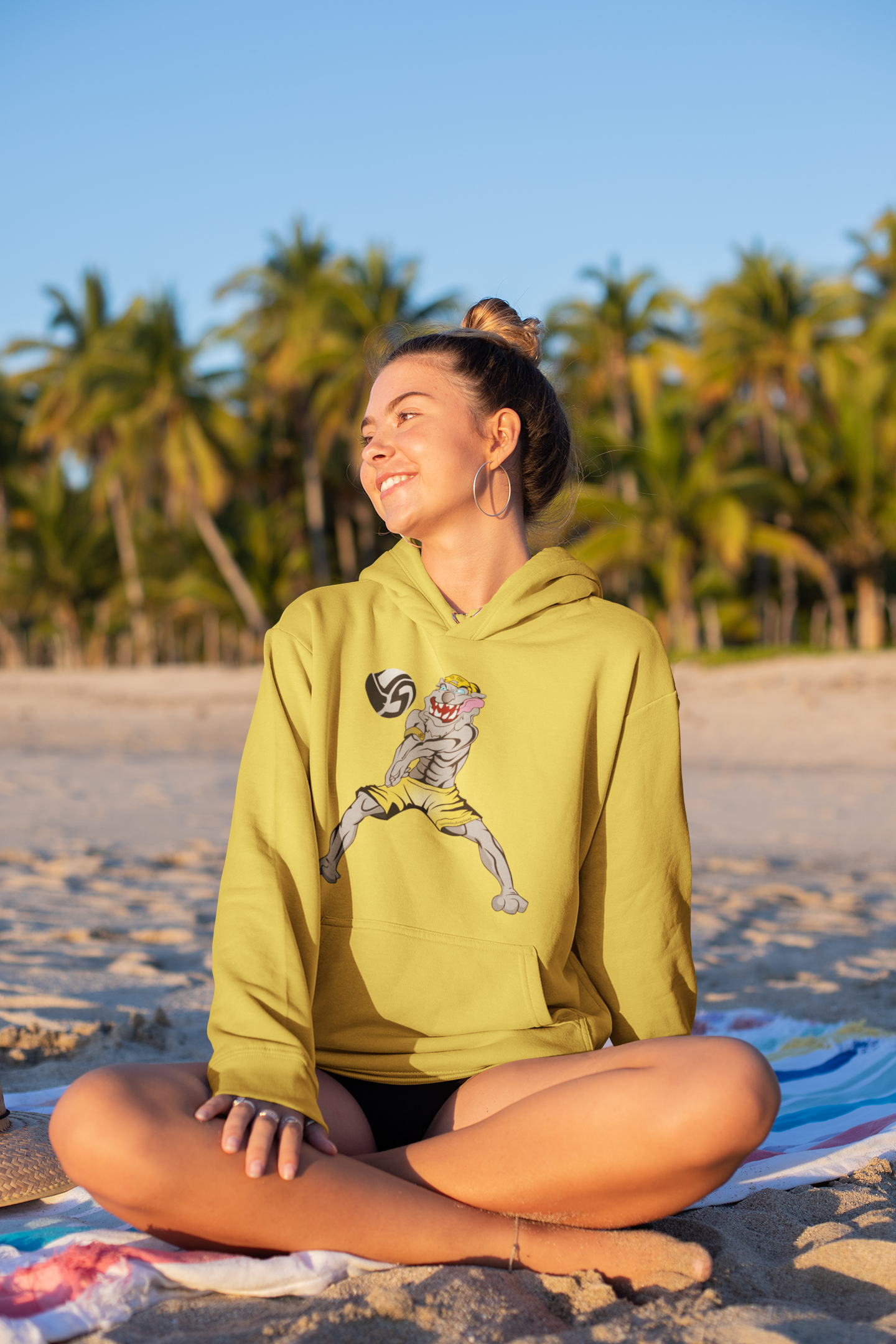 The Volleybragswag Hoodie Features Tatoo the White Tiger