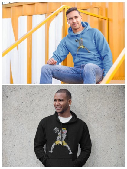 The Volleybragswag Volleyball Hoodie Features Ten Cent the Beach Volleyball Bulldog