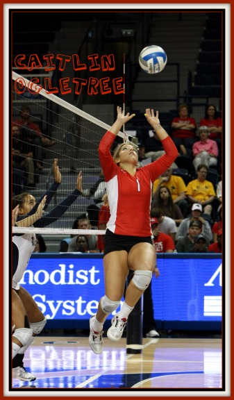 Volleyball Positions:Caitlin Ogletree setting in action
