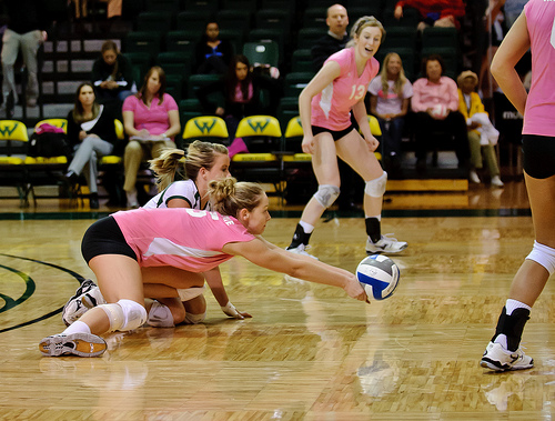 Two Volleyball Terms Used To Describe Digging Balls Without Your Hands (photo CE Andersen)